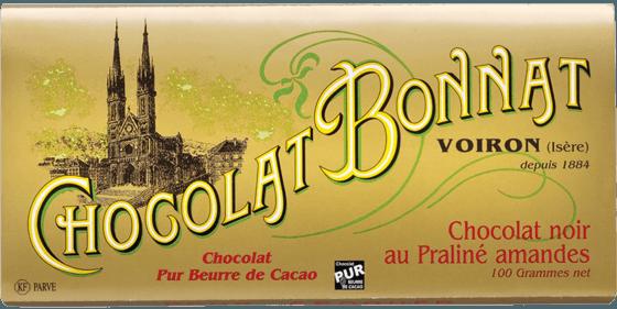 Tablette Chocolat noir au Praliné amandes