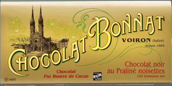 Tablette Chocolat noir au Praliné noisettes
